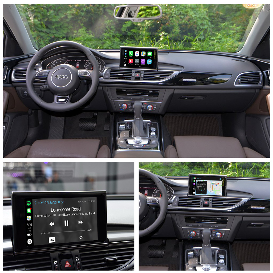 Aftermarket OEM Wireless Apple CarPlay A1 A3 A4 A5 A6 A7 A8 Q3 Q5 Q7 MMI  Car Play Solution Retrofit with Reverse Camera for Audi