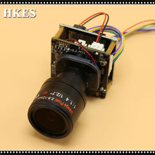 HKES Long distance 2.8-12mm Lens 1920*1080P 720P 960P HD POE IP camera module board with LAN cable ONVIF P2P