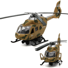Diecast Metal Desert Camouflage Huey Helicopter Simulation Model Mini Flashing Electronic Alloy Airplane Boys Music Toys Plane