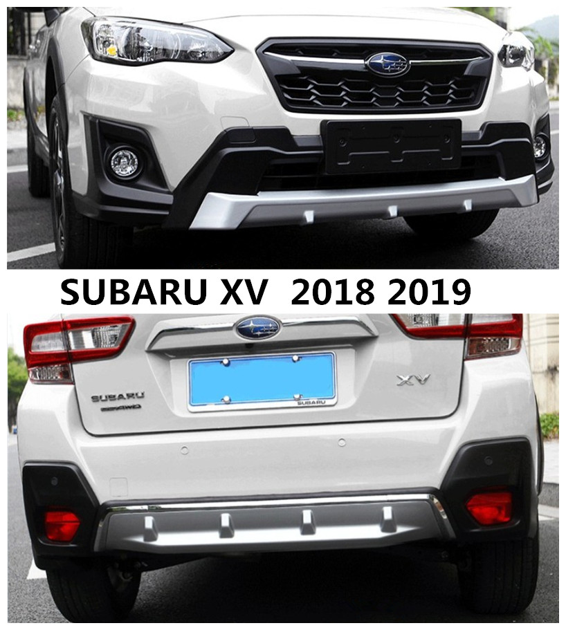 US $151 42 33% OFF|For SUBARU XV 2018 2019 Front & Rear BUMPER GUARD  Diffuser Protecto Skid Plate High Quality ABS Auto Accessorie-in Bumpers  from