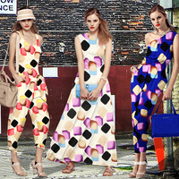 jenny printed pure silk fabric cloth and thick elastic silk satin skirt trousers clothing candy box