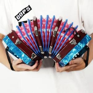 Image 5 - コンサーティーナアコーディオン 20 ボタン 40 リードアングロスタイルキャリングバッグ