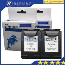 2pc Compatible ink cartridge 122XL BLACK for HP Deskjet 1000 1050 1050A 2000 2050 2050A 2050se 2054A 3000 3050 3050A 3050se