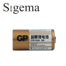 100% original battery GP CR123A 3V 1400mAh non-rechargeable lithium photo battery for cameras flashlights