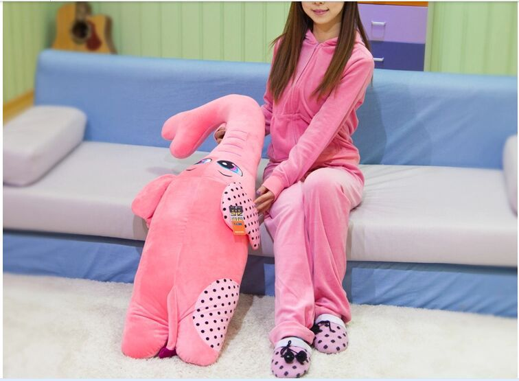 ФОТО new lovely plush elephant toy creative  pink elephant doll boyfriend pillow doll about 120cm