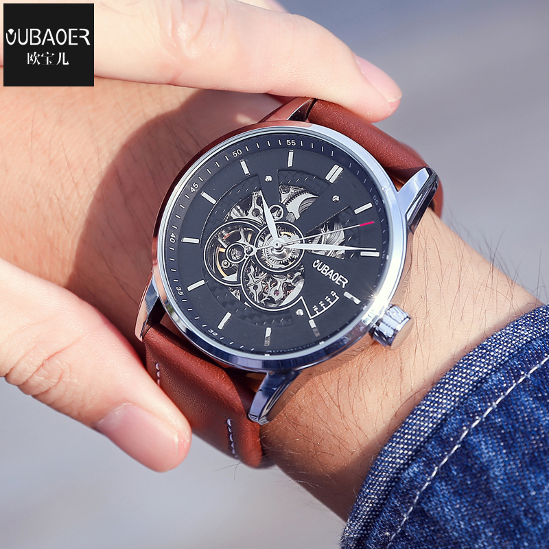 Top luxury Brand Men automatic mechanical Wrist watches Male Business Stainless Steel Leather Band Machinery Watch Men's Clock 2016 luxury brand men business watch stainless steel band machinery sport quartz wrist watches male dress watch clock gift