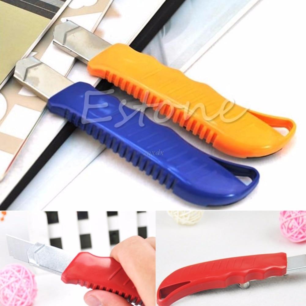 2PCS Box Cutter Utility Knife Snap Off Retractable Razor Blade Knife Tool Drop Ship
