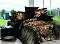 Tigers tiere 3d gedruckt bettwäsche voll queen-size tröster setzt Ägyptischer baumwolle 600TC Erwachsenen schlafzimmer dekoration 4-5 stücke grün