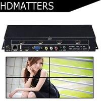 Видеостена контроллер 2X2 USB/HDMI/VGA/AV ТВ процессор 4 ТВ показывает экран сплайсинга для светодио дный/ЖК дисплей Дисплей