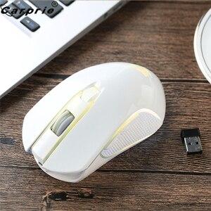 Image 4 - Sạc X9 Chuột Chơi Game Không Dây 2400DPI Im Lặng LED Backlit Quang USB Ergonomic Tắt Tiếng Chuột Pro Game Thủ Không Dây 90214