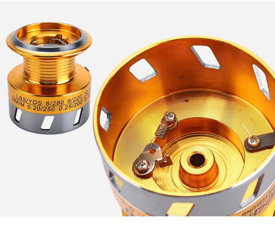 YUMOSHI 13BB EK1000-7000 series Carp 5.1:1 Metal Coil Spinning Fishing Reel New