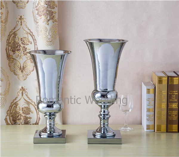 Free Shipment 10pcslots Metal Flower Vase Centerpieces For Wedding