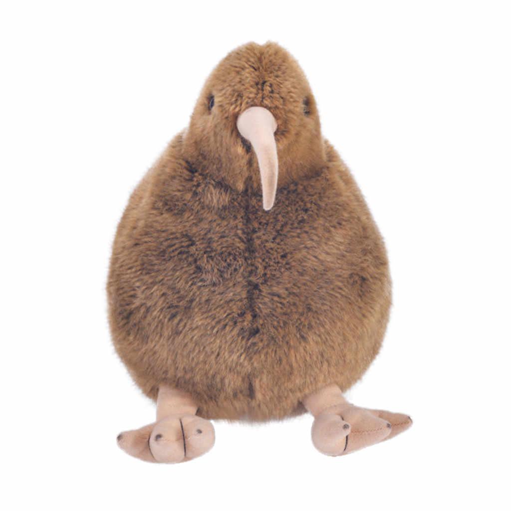 نابض بالحياة البني الكيوي ألعاب من القطيفة جميل الطيور محشوة الحيوانات لعبة عيد ميلاد 12 بوصة الكرتون لينة النوم لطيف Kawaii الإبداعية L425