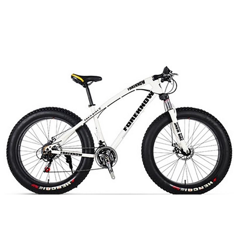 Cadre en acier à haute teneur en carbone de vélo de montagne de plage pneus Ultra larges Scooter adulte de 27 vitesses 26 pouces