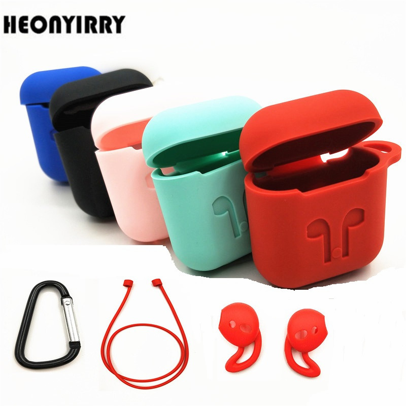 HEONYIRRY Protective Silicone Cover Case for AirPods Case Earpods Case for Apple Headphone for Airpod Case Charger Accessories