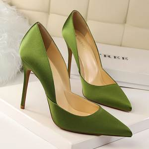 BIGTREE women pumps Silk Pointed Sexy high heels shoes 482404001fda