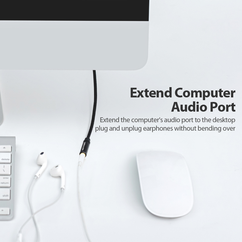 Image 2 - Vention Aux кабель Jack 3,5 мм аудио кабель удлинитель для huawei P20 стерео 3,5 Jack Aux Шнур адаптер для наушников Xiaomi samsung on AliExpress - 11.11_Double 11_Singles' Day