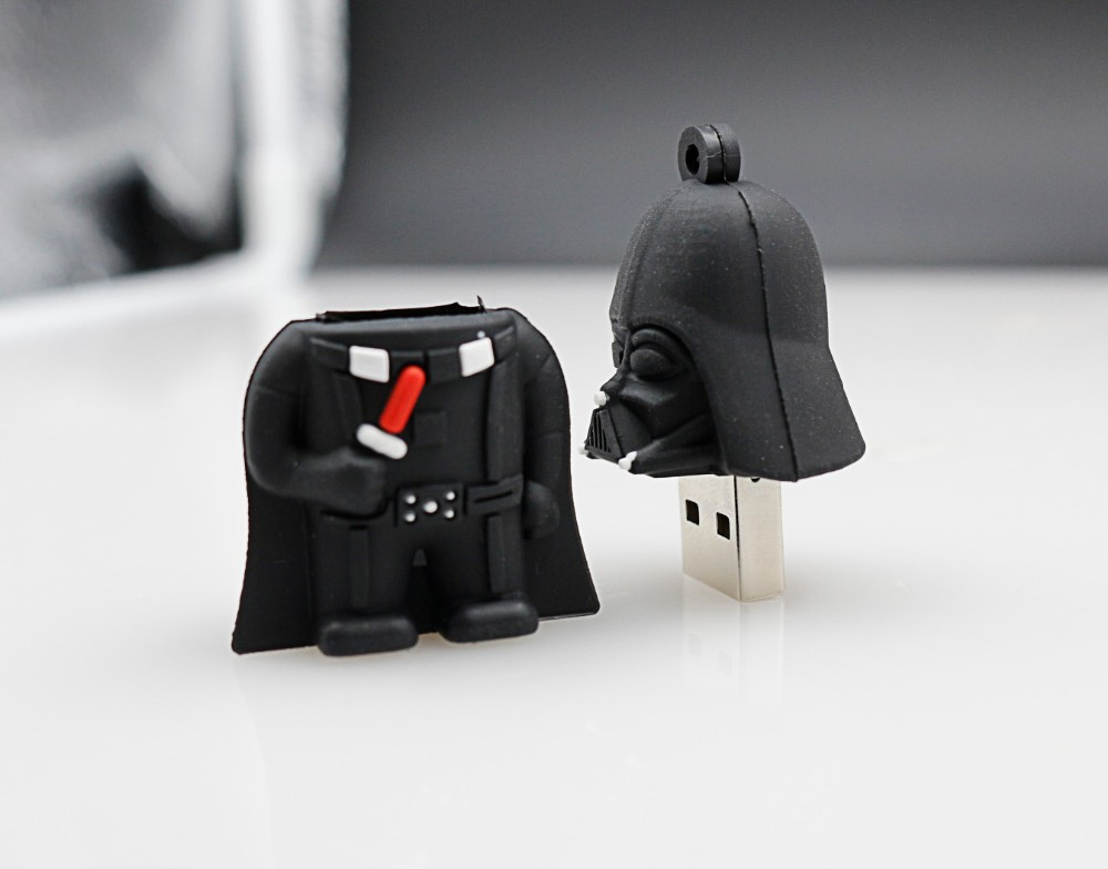 !Best quality512MB 1G 2G 4G 8G 16G 32G 64G Hot Sale Star Wars Darth Vader Flash Drive US ...