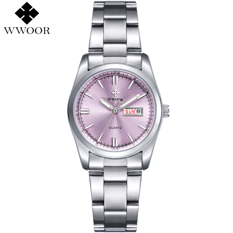 Top Luxury Watch Ladies Date Stainless Steel Wristwatch Quartz Watch Women Watches Silver Montre Femme Famous Brand WWOOR Clock famous brand jw bracelet watch clock women luxury silver stainless steel casual analog wristwatches ladies dress quartz watch