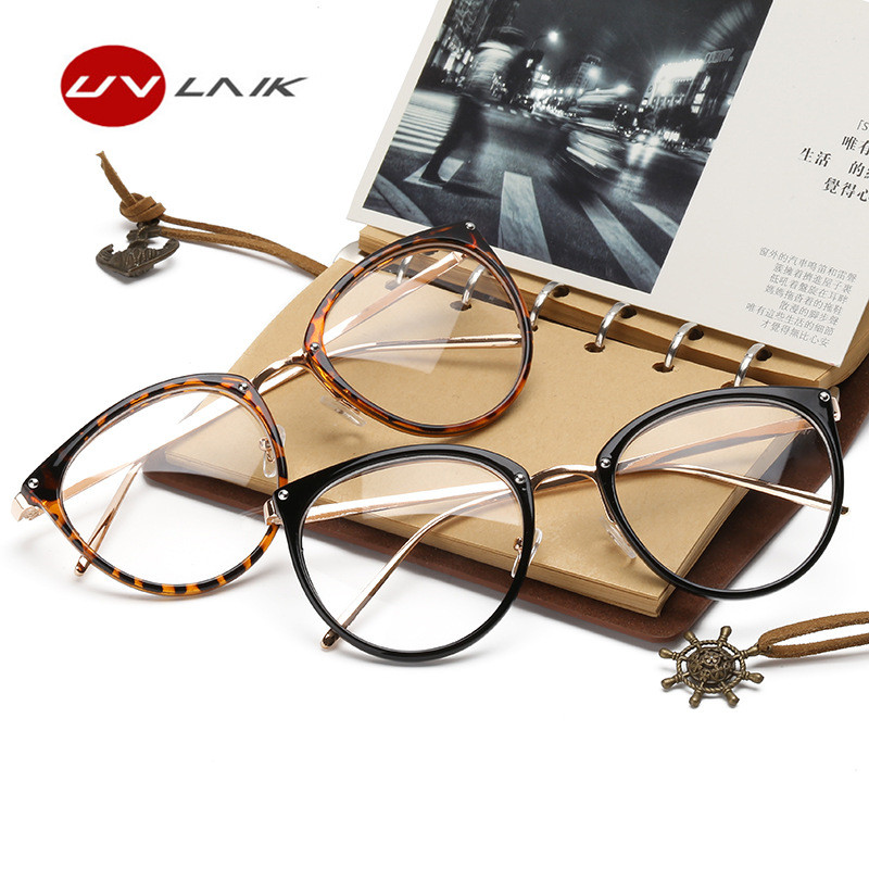 d83df6106c Товар UVLAIK Clear Lens Cat Eye Glasses Frame Women Fashion ...