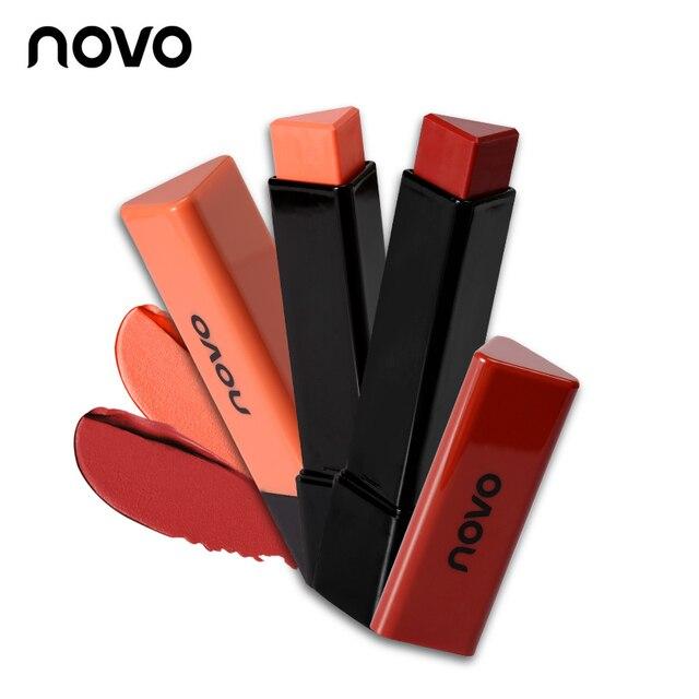 Novo губ Макияж 7 цветов натуральный увлажняющий Треугольники Губная помада питательный матовые бархатные стойких Lip stick Make Up Косметика