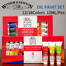 Winsor&Newton Professional 12/18Colors Oil Paints Set High Quality Oil Pigment For Artist School Student Acuarelas Art Supplies