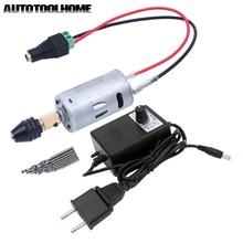 Universal 3 12V 1A Multi Electric Drill Set Mini DC Motor 0.5 3.5mm M8 Drill Chuck Twist Drill Bits EU/US Power Supply Adapter