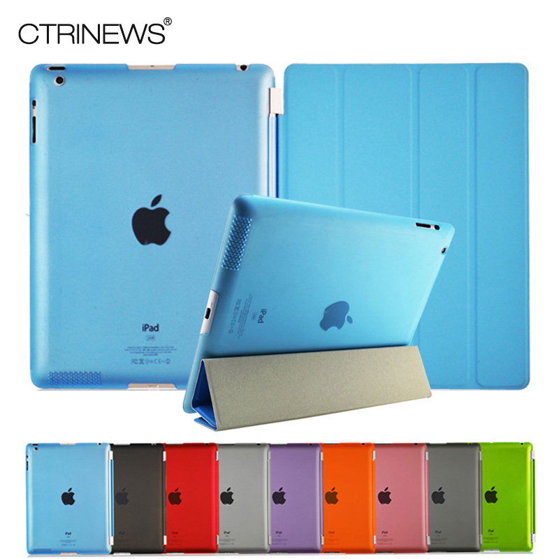 For ipad 2 Leather Case for Apple ipad 2 3 4 Tablets Accessories Fashion Smart Elegant
