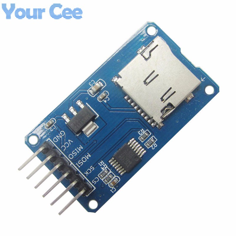 US $0 75 5% OFF|Micro SD Card & SDHC(high speed card) Mini TF Card Reader  Module Adapter SPI Interfaces with Level Converter Chip for Arduino-in