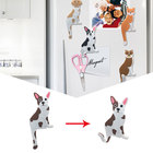 3pcs Removable Magnetic Cartoon Dog Magnet Refrigerator Sticker kitchen Multifunctional Message Holder Hook Fridge Stickers Home