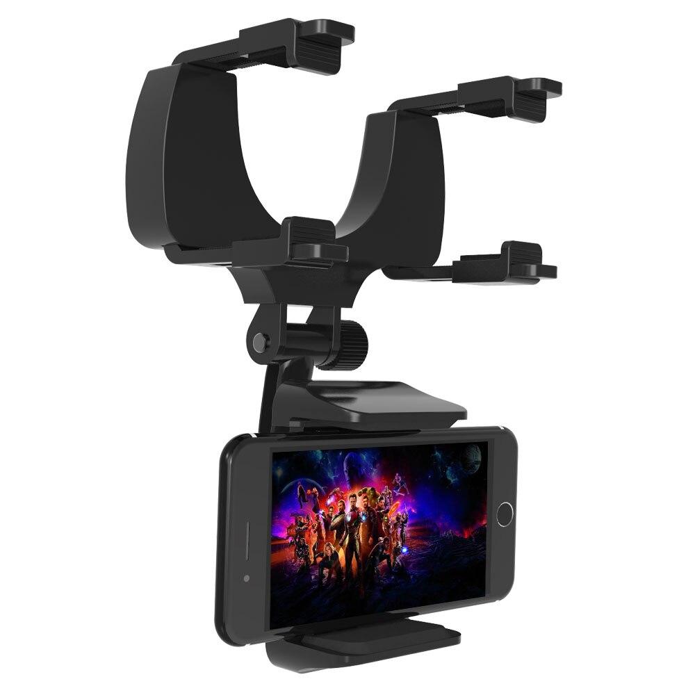 Premium Universal Smartphones Rearview Mirror Car phone holder mount with 360 Retation holder for Iphone XS, ,HuaWei Phones smartphone