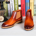 TERSE_New release winter boots mens leather shoes luxury flats boots shoes handmade genuine leather shoes custom service