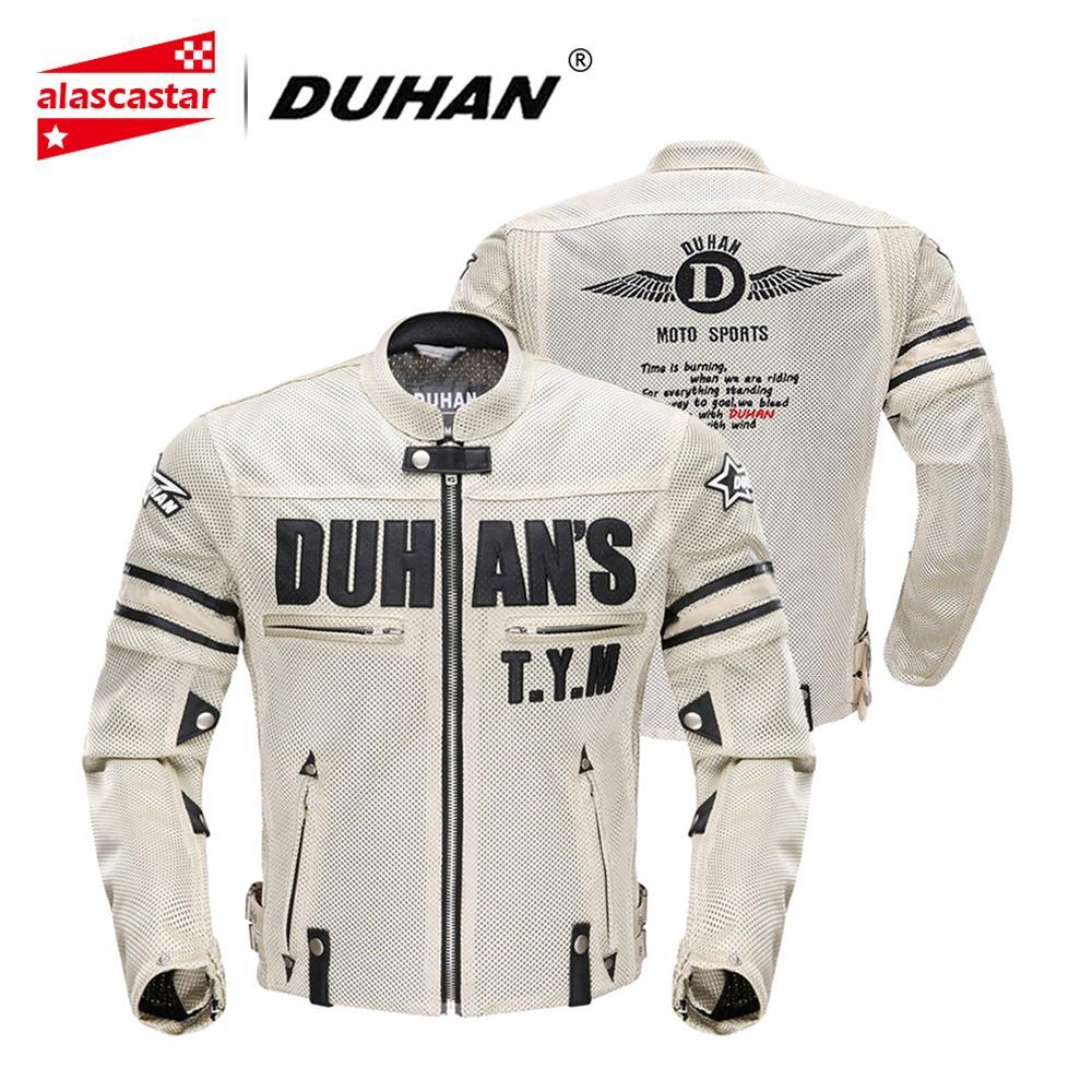 DUHAN Moto Veste Hommes Respirant Maille Racing équipement de protection Amovible Protecteur Rétro D'été Moto Veste vêtements pour cyclisme