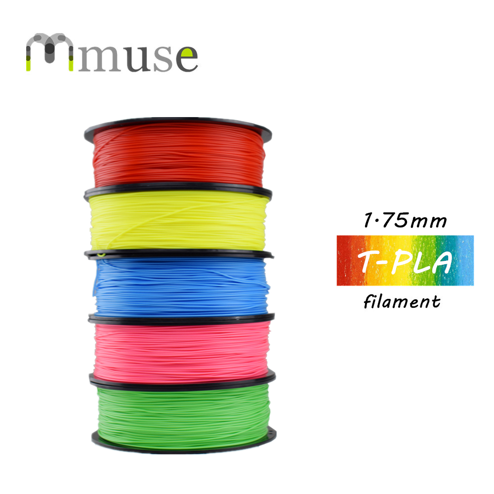 1.75mm 1kg/Spool T-PLA Filament, High Strength PLA 3D Plastic Filament For Anycubic CR10 Ender-3 3D Printer 3d printer filament 1kg 2 2lb 3mm pla plastic for mendel white