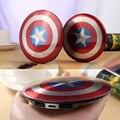 3500 mAh Banco de la Energía de Los Vengadores Capitán América Shield Móvil fuente de Alimentación Móvil Cargador de Reserva Externo Battry