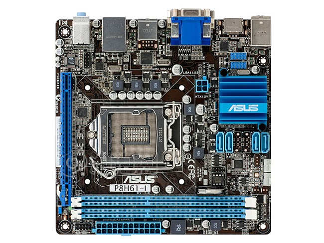 P8H61-I Original Used Desktop Motherboard H61 Socket LGA 1155 For i3 i5 i7 DDR3 16G USB3.0 Mini- ITX On Sale