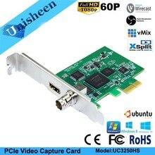 Карта видеозахвата PCIe 60FPS HDMI SDI видеозаписывающая карта игра потоковая прямая трансляция 1080 P VMix Wirecast OBS Xsplit