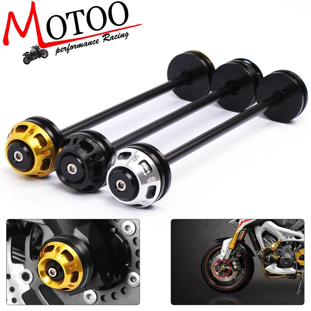 Motoo - Motorcycle CNC Front Axle Slider Frame Sliders Crash Protector For Kawasaki Z800 2013-2015 Z1000 2011-2015