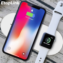 EtopLink Wireless Charger Pad Fast Charging For iPhone X 8 8plus For iWatch 3 2 QI Charger For Sumsang S6 S7edge S8 S8P AirPower