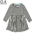 Girl Dress Autumn Long Sleeve 2017 Fashion Stripe  Kids Dresses For Baby Clothes High Quality Toddler Girls Dress Christmas Gift
