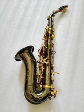 DHL free Hot selling BIack Curved Saxophone B Tone Bell B Curved Soprano Sax saxofone for Children Musical Instrument