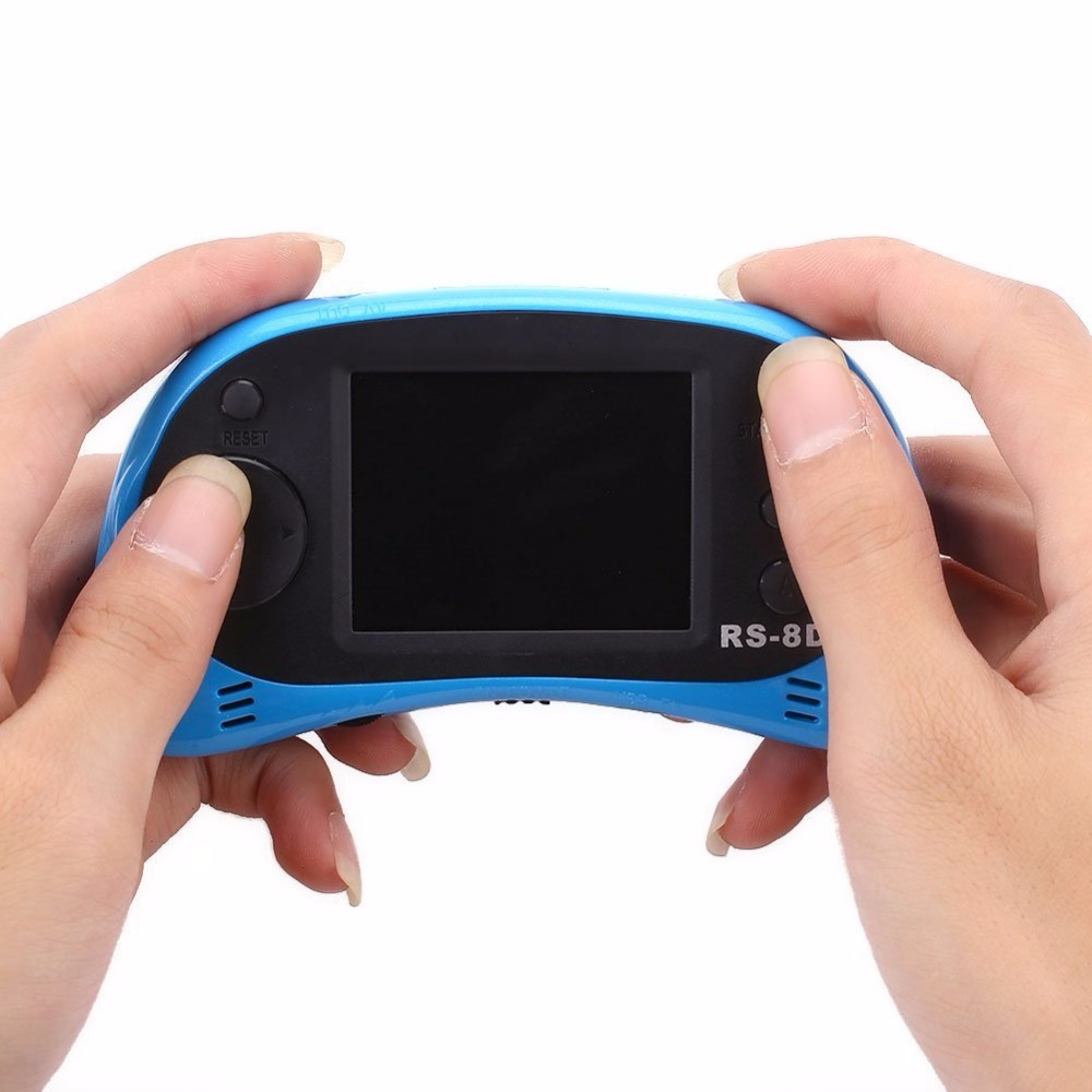 8 Bit Retro Classic 2.5″ Color LCD Display Built in 260Games Handheld Video Game Console Player RS-8 Blue