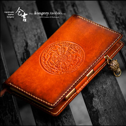 Cuaderno de cuero cuaderno hecho a mano cuaderno de cuero curtido vegetal retro estilo étnico cuaderno de cuero