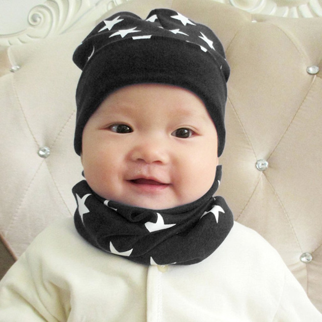 1a6b32616bf11 Autumn Winter Warmth Kids 2 pieces Hat   Scarf Sets Cotton Soft Comfortable  Warm Beanie Scarves Set Toddler Boys Girls sale