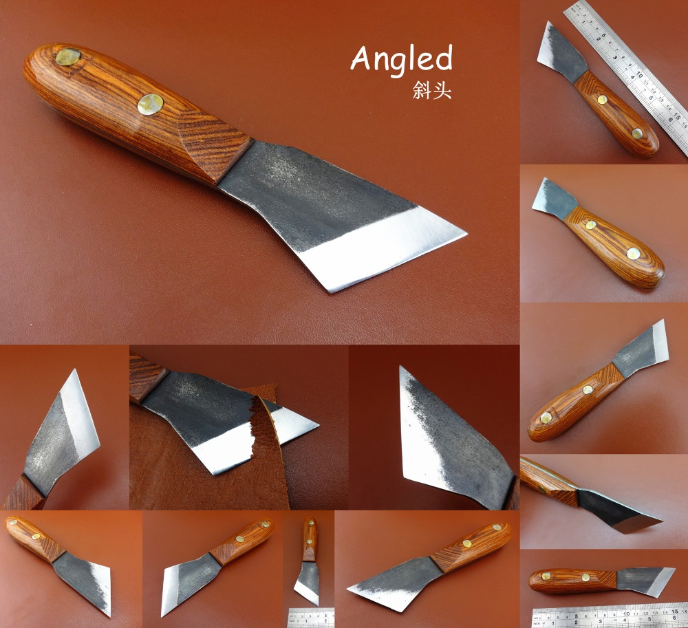 1pc Leather Craft Swiss Steel Angled Bevel Point All Purpose Skiver Cutter Knife Tool - Edger Creaser Groover Beveler Punch NEW