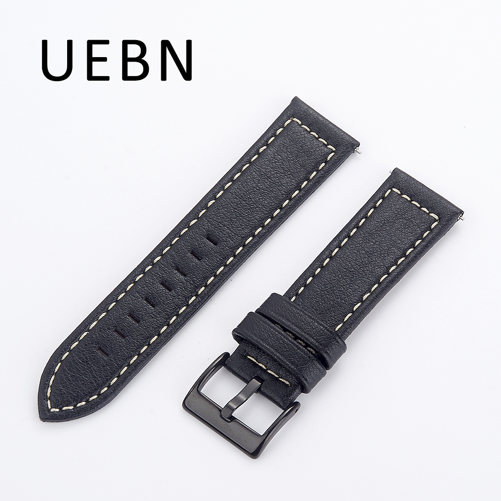 UEBN Leather Band for Samsung Gear s3 classic / frontier replacement wrist strap for Samsung S3 watchband wristbands bands смарт часы samsung gear s2 black