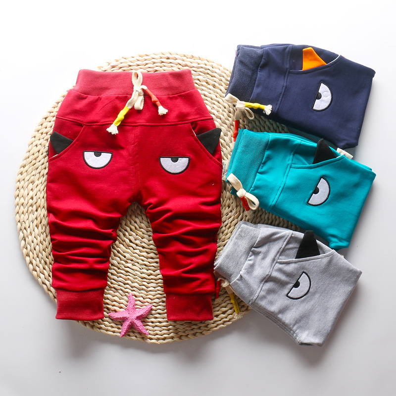 DIIMUU 1-3T Autumn Fashion Boys Girls Pants Children Clothing Toddler Bottoms Kids Elastic Cartoon Cute Casual Long Trousers 3
