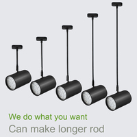 Ceiling Mounted LED Track Lighting 20 200cm Long Rod Available 3W 7W 12W 18W LED Ceiling