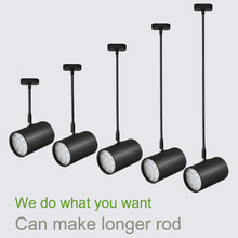 Ceiling Mounted LED Track Lighting 20-200cm Long Rod available 3W/7W/12W/18W Lights for Shop/exhibition-room lamps