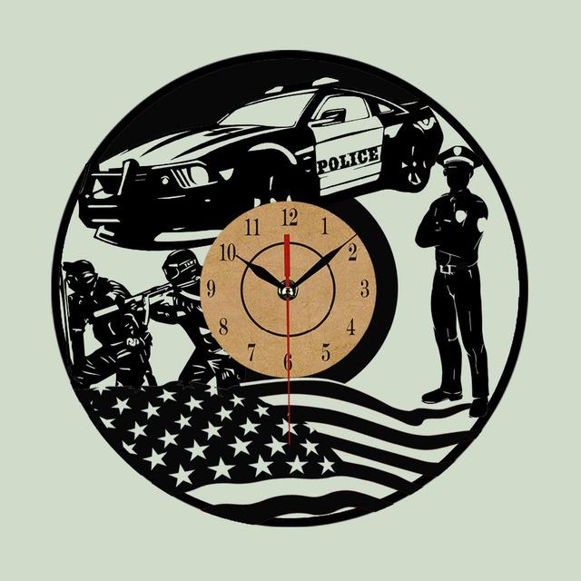 Hot Vinyl Record Wall Clock Cool Design Wall Clocks Quartz Mechanism Black Vinyl Record